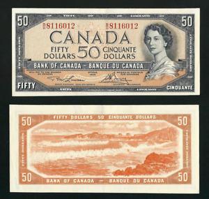 Canada 🇨🇦 1954 - $50 Modified Portrait Lawson Bouey Sig - AU