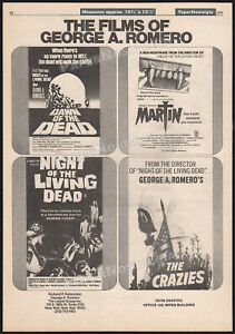 The Films of GEORGE A ROMERO__Orig. 1979 Trade AD promo_poster__DAWN OF THE DEAD