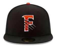 New Era Size 7 3/4 Fresno Grizzlies Orange/Black Home Hat Fitted Astros AAA NWT