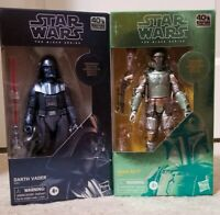 Star Wars Black Series 2 Carbonized Figures: 40th Boba Fett Darth Vader SEALED