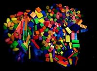 200 BIRD TOY PARTS SMALL TO MEDIUM ASSORTED LARGE LOT OF WOOD PARTS  FILLERS: