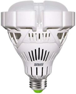 LED Flood Light Bulb Indoor 35W 300W equiv Warm White with E26 to E39 Adapter
