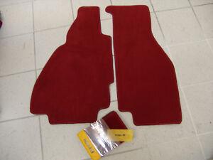 Darkred Velours Floormats for Ferrari 328 GTS 1985-1989