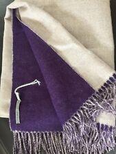 One Alicia Adams Reversible Purple Oatmeal Alpaca Throw New Peru Brand New