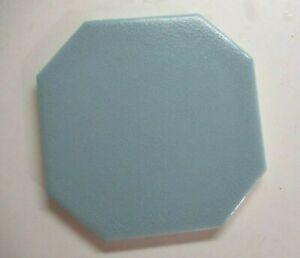 """Olean AO 1970 USA 4-1/4"""" Octagon Crystalline Gloss Sky Blue 1 Ceramic Floor Tile"""