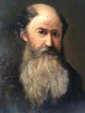 Antico quadro -Olio su tela -Ritratto uomo barbuto - '800