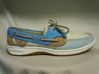 Sperry Top Sider Womens Bluefish Blue White Open Mesh Boat Shoe Womens Size 6.5