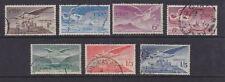 Eire Ireland 1948 Used FU 7 values Airmail Issue Caissal Loc Dears Hibernie
