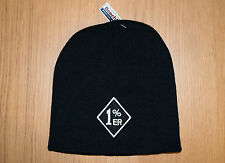 1%er EMBROIDERED MOTORCYCLE  BEANIE HAT/biker/outlaw