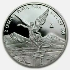 2020 Mexico 2 oz, Silver Libertad .999 Silver Proof Only 2,800 Minted