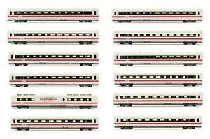 FLEISCHMANN 'HO' GAUGE RAKE OF 12 ASSORTED DB RED/WHITE PASSENGER COACHES