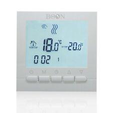 Cronotermostato Digitale Settimale LCD a batteria - BOON Bianco
