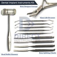 Dental Implant Surgical Bone Splitting Chisel Mallet Hammer Sinus Lift Elevators