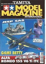 TAMIYA - MODEL MAGAZINE N°28 JEEP SAS / CATWOMAN / G4M1 BETTY / ALFA ROMEO 155