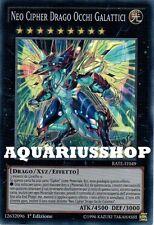 Yu-Gi-Oh Neo Cipher Drago Occhi Galattici RATE-IT049 Super Rara ITA Nuovo Dragon