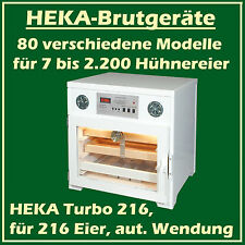 Heka Turbo 216 - Incubateur en plastique pour 216 oeufs, avec vollautomat. Twist