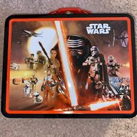 Tin Metal Lunch Snack Toy Box Star Wars Force Awakens Kylo Ren & Casts NEW