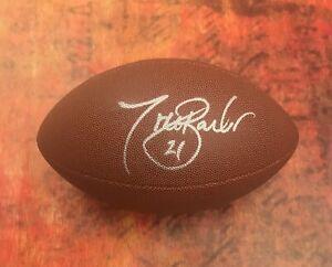 GFA New York Giants Running Back TIKI BARBER Signed NFL Football T3 COA