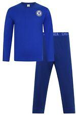 Mens Chelsea Football Club Long Pyjamas Premier League PJs CFC Pyjama PJ Blue