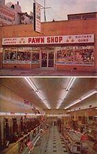 LOUISVILLE, KY, DAVIS & SON PAWN & GUN SHOP EXT & INT, CHROME ADV PC, c. 1950's