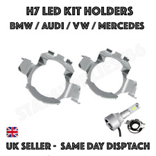 2X H7 LED KIT BULB HOLDERS AUDI A3 A4 A6L VW BORA JETTA PASSAT NIGHTEYE ADAPTERS