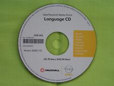 OPEL LANGUAGE / SPRACH CD 2008 CD 70 NAVI ZAFIRA B ASTRA H TIGRA MERIVA SIGNUM