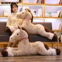 120cm Plush Horse Toy Big Size Stuffed Animal Doll Baby Kids Gift Home Decor