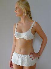vintage retro true 60s 8 - 10 S unused 2 pc cotton swimsuit bikini