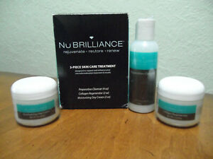 NuBrilliance 3-Piece Skin Care Treatment System Expired 07/2016 NEW SEALED