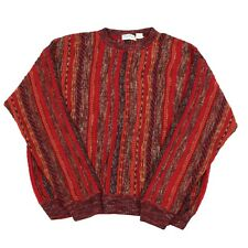 Vintage NORM THOMPSON Wool Cosby Jumper | Sweater Knit 90s Hip Hop Patterned