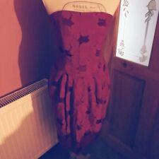 Strapless Next Dress Size 10 Womens Ladies Pink Corset Tulip Knee Length