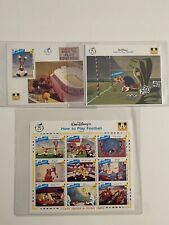 Disney Postage Stamp Collection Goofy How to play Football Collectors Society