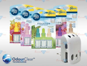Ambi Pur 3Volution Electric Plug In Refills Air Freshener 90 Days 3 x 3 Pack