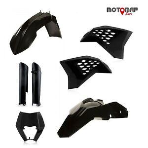 Full Kit Plastiche Acerbis Ktm Exc 125 250 300 2008 2009 2010 2011 Nero