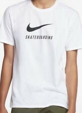 Nike Sb Skate Swoosh T-Shirt Bianca Taglia XL XXL