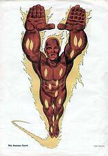 1966 HUMAN TORCH (FF) ORIGINAL MARVEL COMICS SILVER AGE MARVELMANIA POSTER PRINT