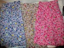 Above Knee Floral Regular Size 100% Cotton Skirts for Women