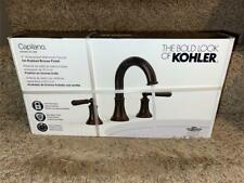 "KOHLER Capilano 8"" Widespread 2-Handle Bathroom Faucet in Oil-Rubbed Bronze"