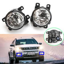 Left & Right Side Front Fog Light Lamp For Jeep Compass Cherokee RAM ProMaster