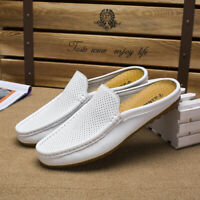 Mens Moccasins Shoes Slip-on Leisure Loafers Half Slippers Hollow Out Breathable