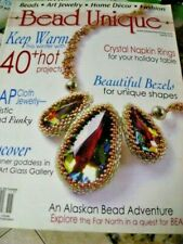 BEAD UNIQUE Magazine Art Jewelry DiY Projects Beads Craft Book Home Decor BEADS