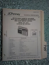 JC Penny JCP 3242 851-0554 service manual original repair book radio boombox