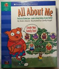 """All About Me by Harper Collins Interactive 3.5"""" Floppy Disks Windows 3.1 *New*"""