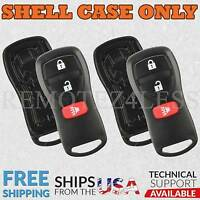 2 For 2005-2015 Nissan Armada Remote Shell Case Car Key Fob Cover