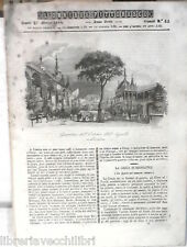 ANTICA STAMPA INCISIONE 1844 Osteria dell Aquila Cimabue Pio VII Napoleone di e