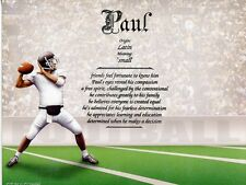 """""""Football"""" Name Meaning Print Personalized (Sports)"""