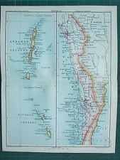 1893 INDIA EMPIRE MAP ~ INDIA SECTION XV ~ TENASSERIM ANDAMAN & NICOBAR ISLANDS
