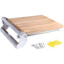 Folding Wall Mounted Shower Bench/Seat, Stainless 304 & Solid Burmese teak