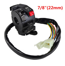 "7/8"" 12V Motorcycle Start Light Choke Kill Switch Black Dirt Pit Buggy Bike ATV"