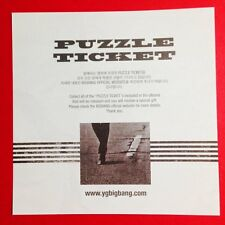 "K-POP BIGBANG MADE THE FULL ALBUM ""MADE"" Official Puzzle Ticket + Board"